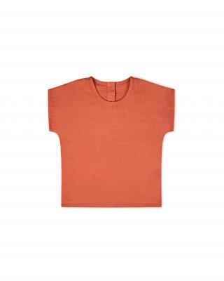 Kinderhemd kurzarm aus Baumwolle papaya