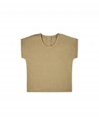 Kinderhemd kurzarm aus Baumwolle sesam