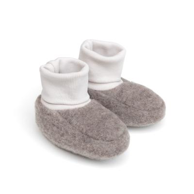 Baby-Schühchen aus Wollfleece graubraun