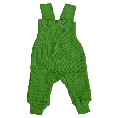 Strick-Trägerhose grün