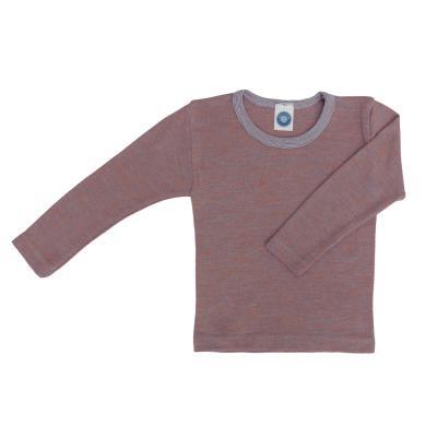 Kinderhemd WS langarm hellblau/orange melange
