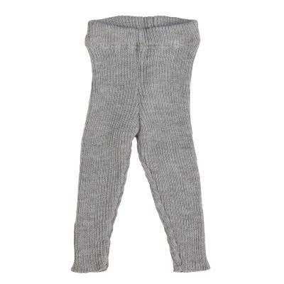 Strick-Leggings aus Wolle grau