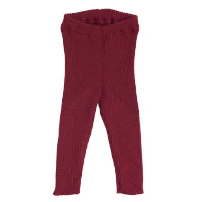 Strick-Leggings aus Wolle bordeaux