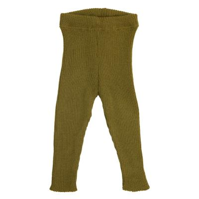 Strick-Leggings aus Wolle gold