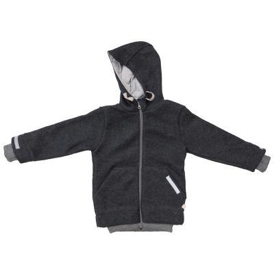 Outdoor Jacke aus Wolle anthrazit