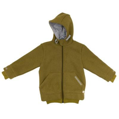 Outdoor Jacke aus Wolle gold