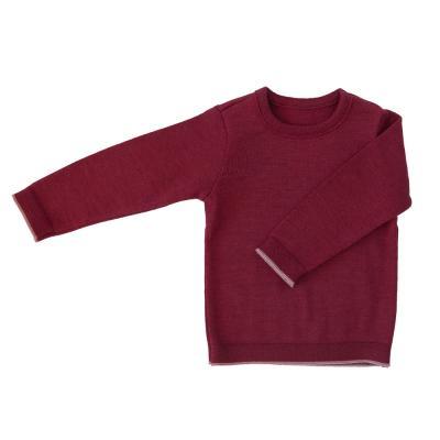 Pullover (für Kinder) aus Wolle (neues Modell) bordeaux