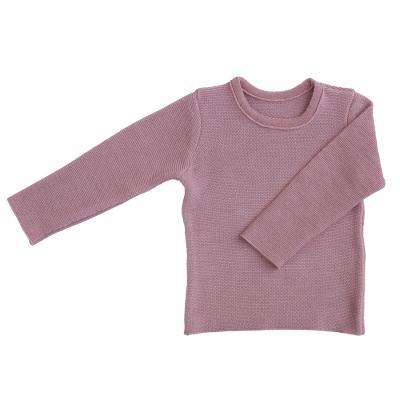 Linksstrick Pullover aus Wolle rosé