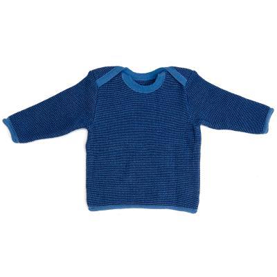 Melange-Pullover aus Wolle blau