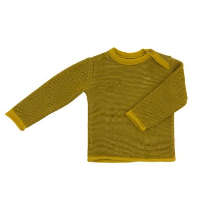 Melange-Pullover aus Wolle curry/gold