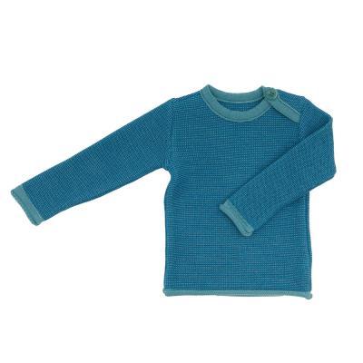 Melange-Pullover aus Wolle lagune 50/56 | Neu