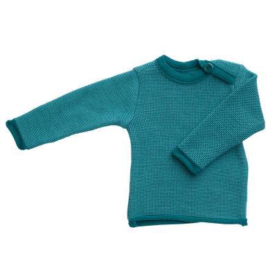 Melange-Pullover aus Wolle pazifik/lagoon