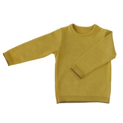 Pullover (für Kinder) aus Wolle (neues Modell) curry