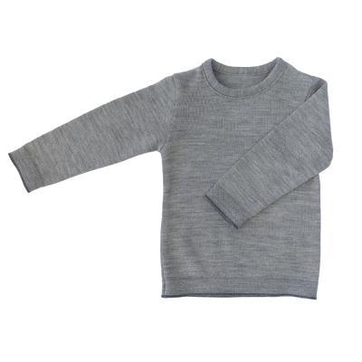 Pullover (für Kinder) aus Wolle (neues Modell) grau