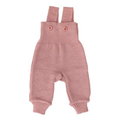 Strick-Trägerhose rosé