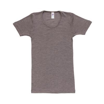 Damenhemd kurzarm W/S walnuss
