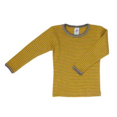Kinderhemd WS langarm safran/walnuss