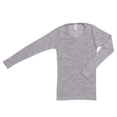 Damenhemd langarm aus W/S hellgrau 34/36 | Gut