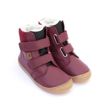 Winterstiefel Soft Feet mit Klettverschluss berry