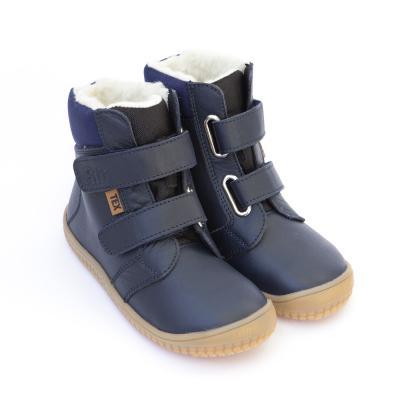 Winterstiefel Soft Feet mit Klettverschluss ozean
