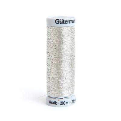 Metallic Stickgarn silber