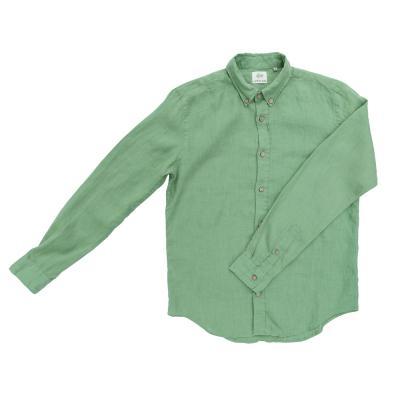 Herrenhemd aus Leinen grün
