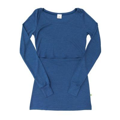 Stillhemd langarm aus W/S blau