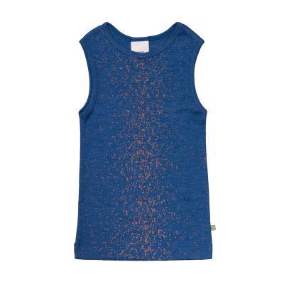 Hemd WS bedruckt blau