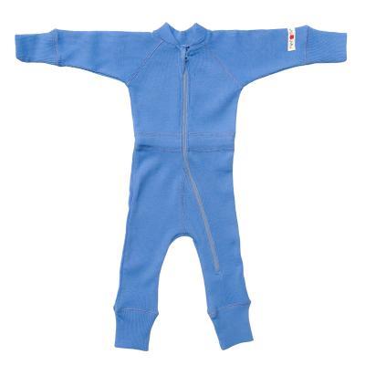Ganzkörperanzug aus Wolle provence-blau