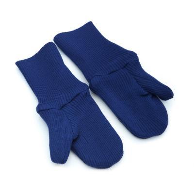 Handschuhe aus Wolle blau