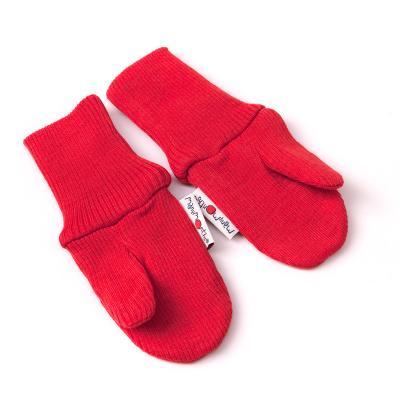 Handschuhe aus Wolle hellrot