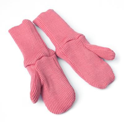Handschuhe aus Wolle rose