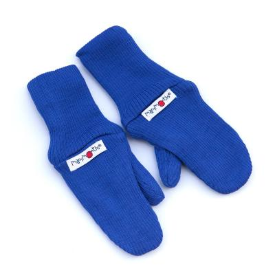 Handschuhe aus Wolle königsblau