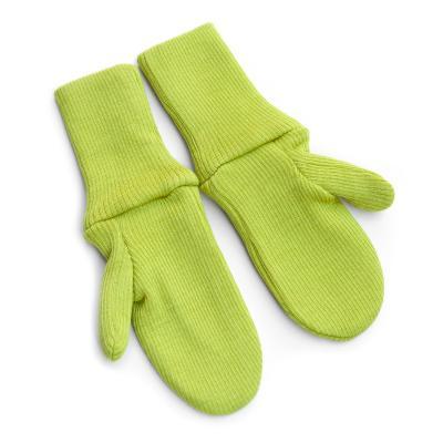 Handschuhe aus Wolle apfelgrün