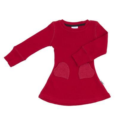 Kleid aus Wolle preiselbeere
