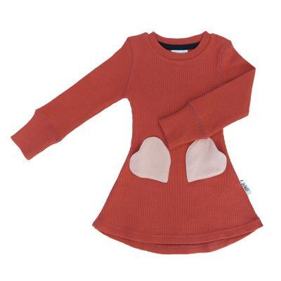 Kleid aus Wolle roibusch