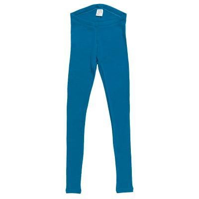 Damenleggings aus Wolle tiefseeblau
