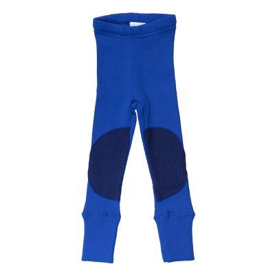 Leggings aus Wolle mit Knieflicken königsblau