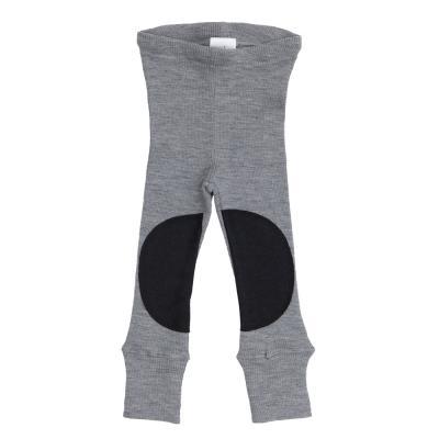 Leggings aus Wolle mit Knieflicken wolkensilber
