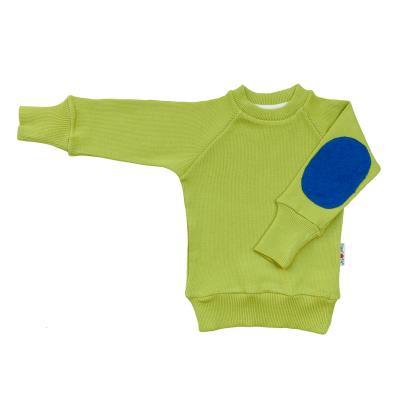 Pullover mit Aufnäher aus Wolle apfelgrün