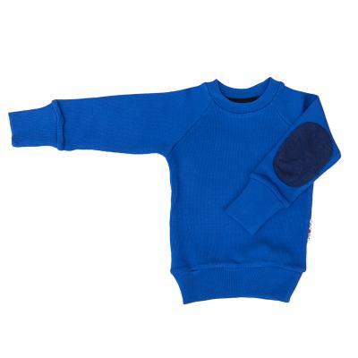 Pullover mit Aufnäher aus Wolle königsblau