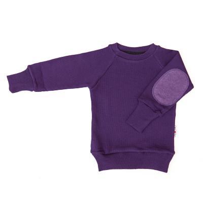 Pullover mit Aufnäher aus Wolle pflaume