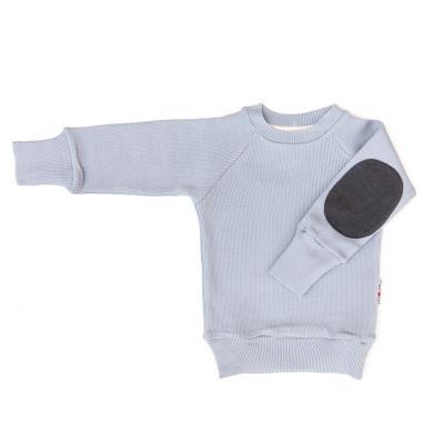 Pullover mit Aufnäher aus Wolle silber