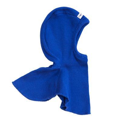 Schalmütze aus Wolle königsblau