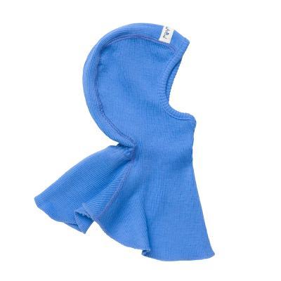 Schalmütze aus Wolle provence-blau
