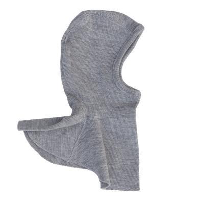 Schalmütze aus Wolle wolkensilber