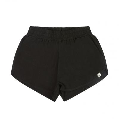 Shorts aus Leinen schwarz