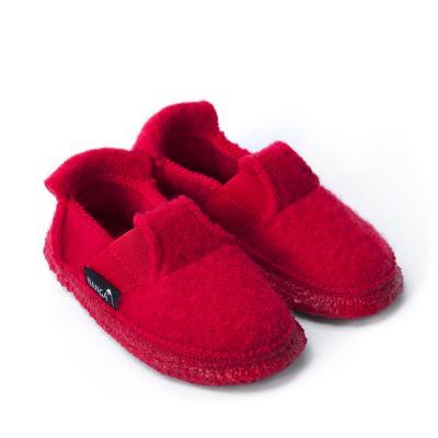 Hausschuhe aus Wollfilz rot