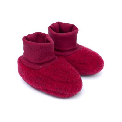 Baby-Schühchen aus Wollfleece rot