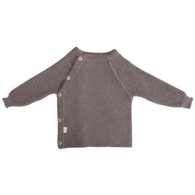 Schlüttli aus Wolle graubraun